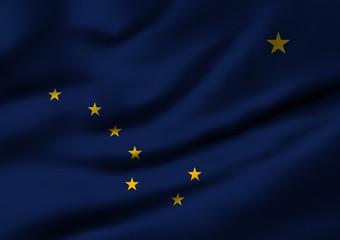 Waving flag, design 1 - Alaska