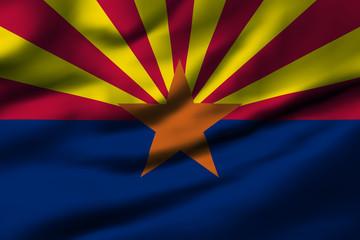 Waving flag, design 1 - Arizona