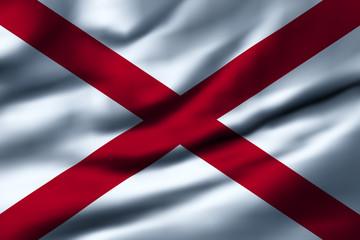 Waving flag, design 1 - Alabama