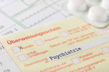 Überweisungsschein Psychiatrie