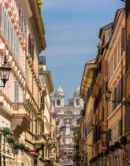 Via dei Condotti, a street in the center of Rome