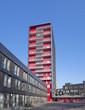 red apartment building
