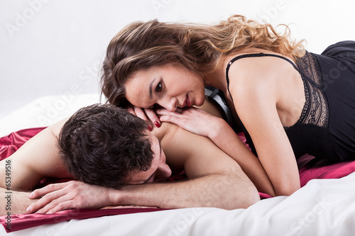 Couple during erotic moments