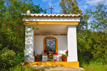 Oratorio, altar, Sierra Morena, Solana del Pino, Ciudad Real