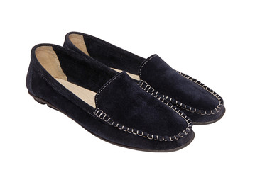 pair of shammy moccasins