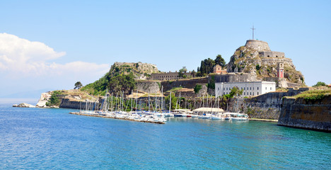 Old fort and the town of Corfu, Greece, Europe