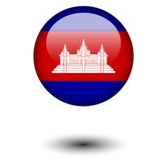 Flag button illustration - Cambodia