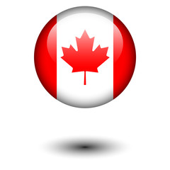 Flag button illustration - Canada