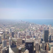 chicago with skyscraper and downtown