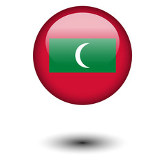 Flag button illustration - Maldives