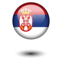 Flag button illustration - Serbia