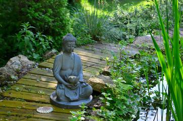 Garten Teich Buddha