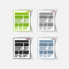 realistic design element: interface