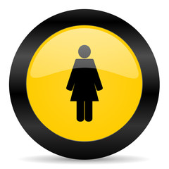 female black yellow web icon