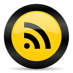communication black yellow web icon