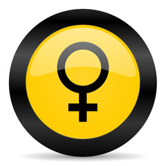 female black yellow web icon