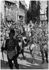 Procession : Ch. Columbus & Indians - end 15th century