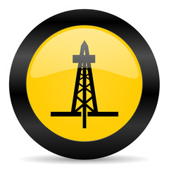 drilling black yellow web icon