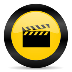 video black yellow web icon
