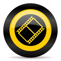 film black yellow web icon