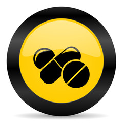 medicine black yellow web icon