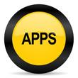 apps black yellow web icon