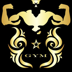 Gym and fitness symbol © john1179