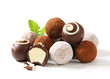 Chocolate truffles and pralines - 65355722