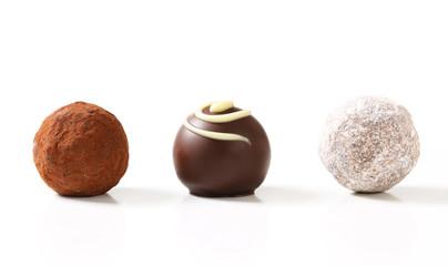Chocolate truffles and pralines