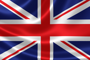 Close up of the Flag of United Kingdom