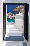 Traditional architecture of Oia village on Santorini island, Gre - 65356962