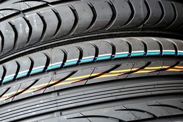 Detail of a car tire.