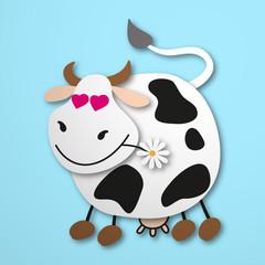 zakochana krowa wektor