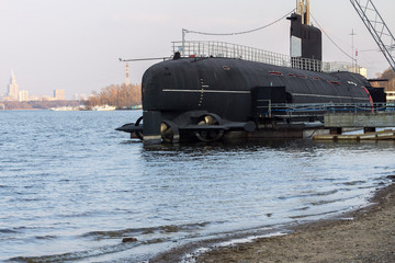 Decommissioned submarine at the Khimki reservoir
