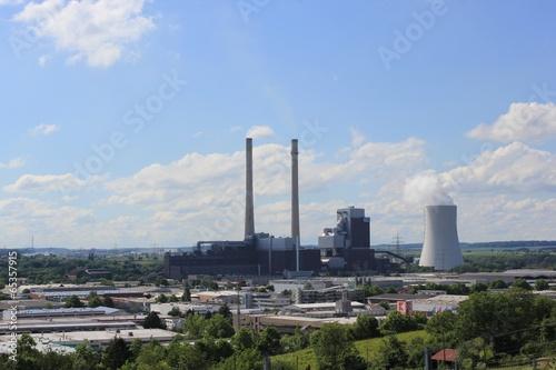 Leinwanddruck Bild Kohlekraftwerk in Heilbronn