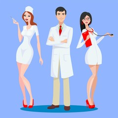 nurse and doctors