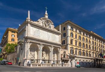 Fontana dell'Acqua Felice in Rome, Italy
