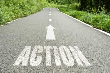 concept route de campagne - action