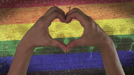 Hands Heart Symbol LGBT Pride