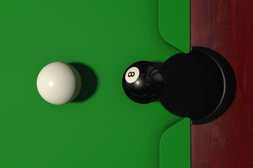 Black and white billiard balls