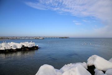 Seebrücke Schönberg Ostsee Probstei Winter