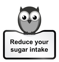 Monochrome obesity sugar intake sign