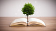 Tree growing from an open book