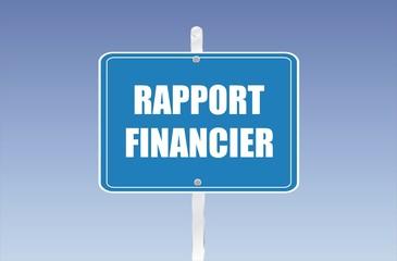 panneau rapport financier
