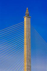 Rama VIII Bridge, Suspension bridge in Bangkok, Thailand