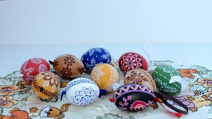 Easter decoration - painted eggs