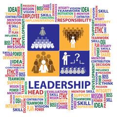 Leadership and teamwork sign and symbol