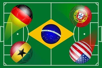 Brazil. Soccer World Cup. Group G