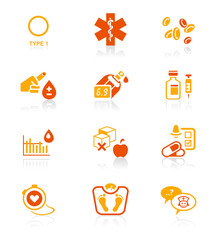 Diabetes icons || JUICY series