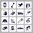 Lumberjack icon set - 65366757